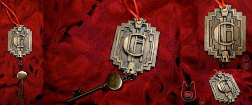 AHS Hotel Cortez Room Key Ornament (Tutorial) by studioofmm