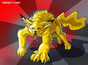 Crinos Pikachu by Tacimur