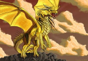golden dragon by Tacimur