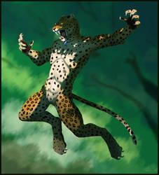 Teliko the wereleopard by Tacimur