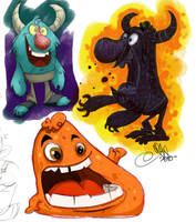 more monsters by ShaneCorn