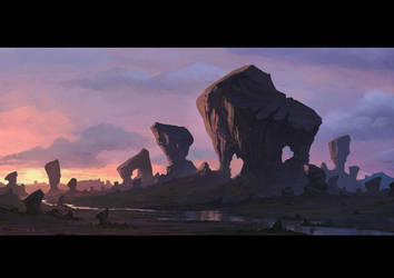Scarred Rock Mountain by draken4o