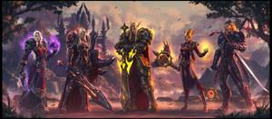 Blood Elf Family Portrait by draken4o