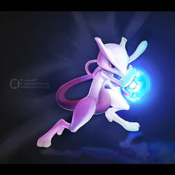 Mewtwo by JisuArt