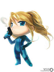 Chibi Zero Suit by JisuArt