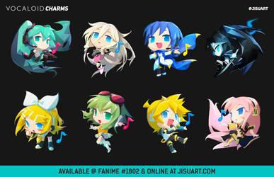 Vocaloid Chibis Charms! by JisuArt