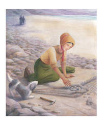 Mary Anning by Pa-Kalsha