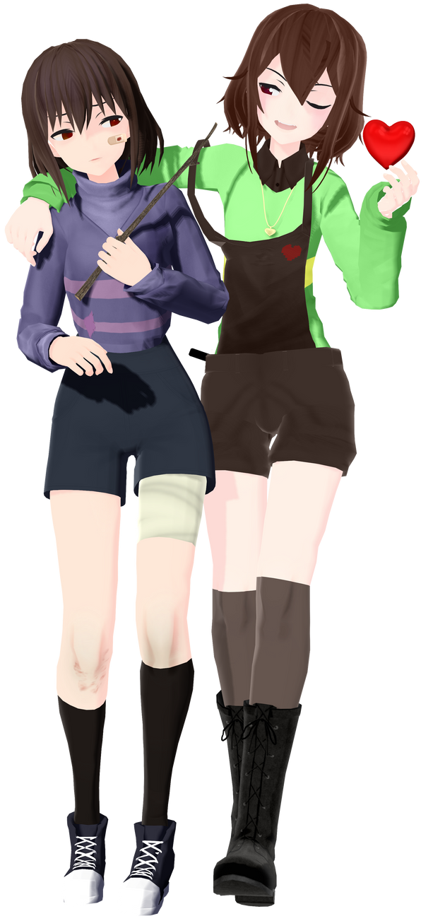 MMD|Frisk and Chara| by GhoulTyan