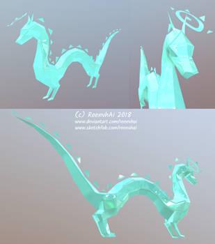 Lowpoly Dragon - 3d design! by ReenvhAi