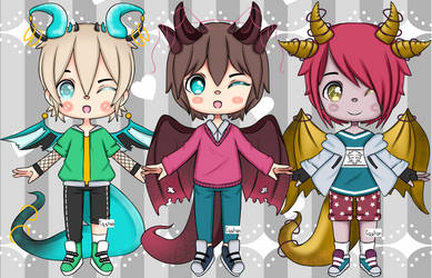 [ Dragon Boys C  01 ] : Set price Open 3/3 by CqshonTouch