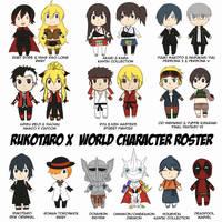 Rukotaro X World Character Roster by Rukotaro