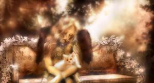 cindy's garden by L-A-Addams-Art