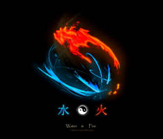 water and fire by Shimensoka-Mitsukai