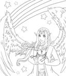 Eldaron - LineArt - WiP by TouchedVenus