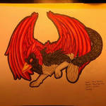 Cardinal Cat Gryphon Rough Draft by TouchedVenus