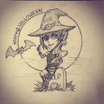 FF14: Irryal - Halloween Chibi (Sketch - WiP) by TouchedVenus