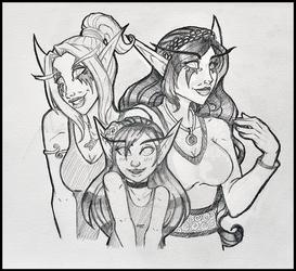 Commission - Xaneria, Savaena, and Grandchild by TouchedVenus