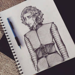 Star Wars: Kylo Ren Sketch by TouchedVenus