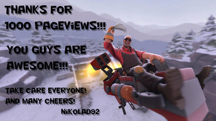 Thanks for 1000 pageviews by Nikolad92