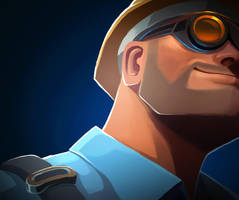 Tf2 engineer B by biggreenpepper