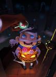 TF2 Halloween little scout by biggreenpepper