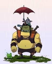 dota2 In the rain by biggreenpepper