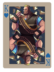 pokerTF2 K heavy blue by biggreenpepper