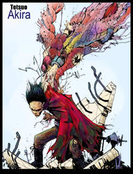 COLRS:Tetsuo of AKIRA by TheIronClown by Tadpole7