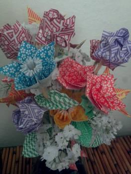 Origami Flower Arrangement By Zsairax On Deviantart