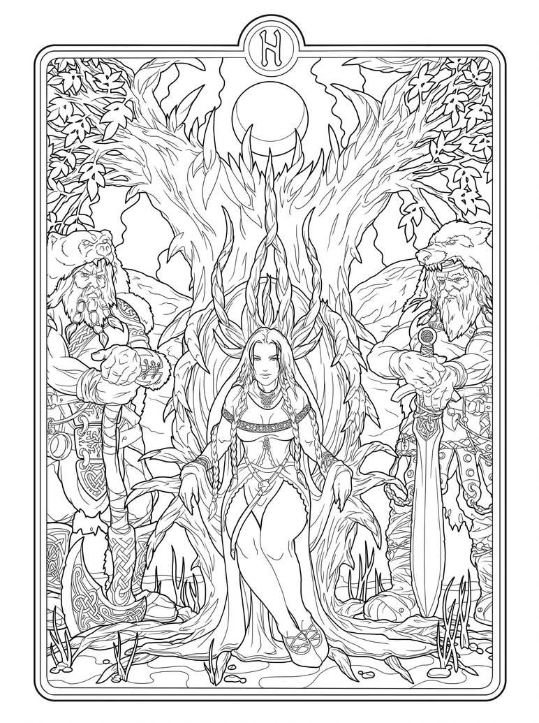 Helheim Goddess lines by deviantAshtareth