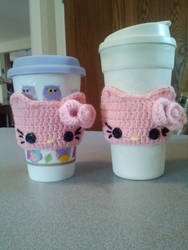 Pink Hello Kitty Cup Cozies by xXNightRose14Xx