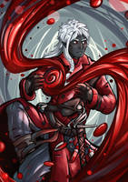 The unnamed drow - Inktober by Gengalery