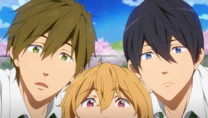 KyoAni Free! - ' Look at those fangirls ' by CChibitan