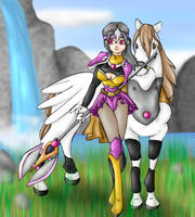 FE: Pegasus Knight Pippy by Lady-of-Link