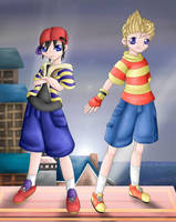 Ness and Lucas by Lady-of-Link