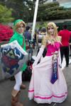 Link and Zelda -Sakura con 2014 by RainPhotos