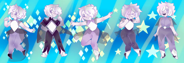 Cubic Zircronia Through The Ages by greenie-chan