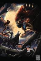 Battle of the Beasts by MushkiKizou-Art