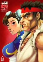 Ryu vs Chun Li by ZehB