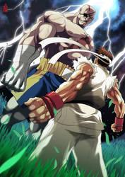 Sagat vs Ryu by ZehB