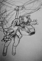 Super Sonic Tank Cat!! by Ken-Dolly