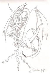 Lightning Dragon by cougartiger