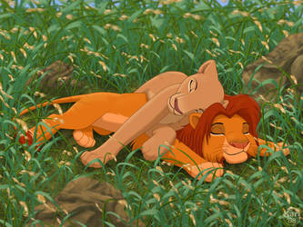 Simba and Nala snoozing by dukacia
