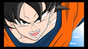 Goku colored by mastertobi