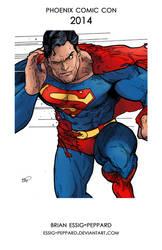 Superman Print - Phoenix Comic Con 2014 by Essig-Peppard