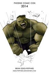 Hulk Print - Phoenix Comic Con 2014 by Essig-Peppard