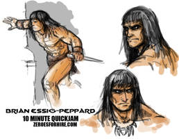 Conan the Barbarian Speed Doodle by Essig-Peppard