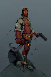 Hellgirl Coloured by CMGfx