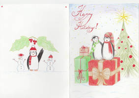 Christmas Penguins by getupp