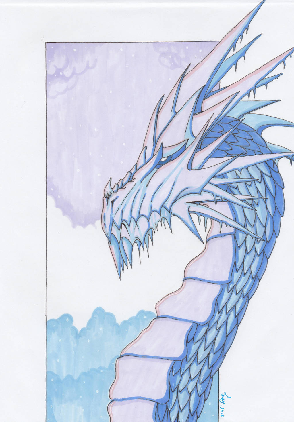 Ice dragon by getupp